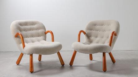 Philip Arctander, 'A pair of original 'clam' (Muslinge-stolen) armchairs designed by Philip Arctander', 1944