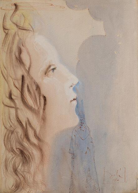 Salvador Dalí, 'La plus grande beauté de Béatrice (The Highest Beauty of Beatrice) - illustration for paradise Canto 8 from The Divine Comedy', 1950
