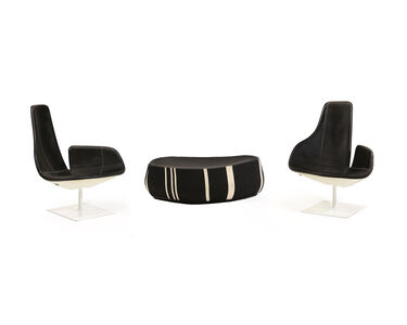 """Patricia Urquiola, 'A Patricia Urquiola for Moroso """"Fjord"""" armchairs and stool'"""