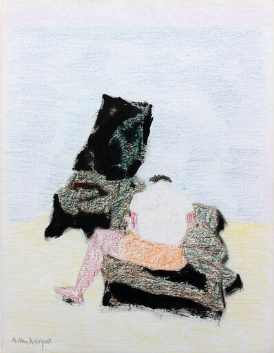 Milton Avery, 'Sitting on Rocks at Water's Edge', 1957