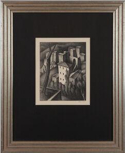 """Alexander Kanoldt, ' """"Olevano V""""', 1925"""