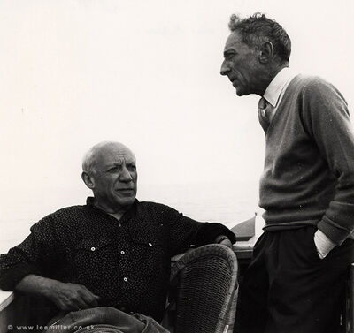 Lee Miller, 'Picasso and Jean Cocteau, Golfe -Juan, côte d'azur, France ', 1953