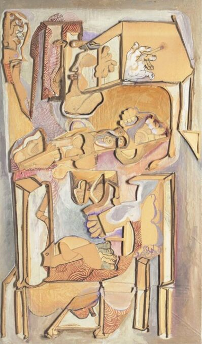 Mohan Samant, 'Man with a Child in a Chair', 1982