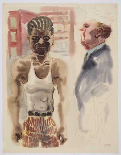 George Grosz, 'Downtown Manhattan', 1933