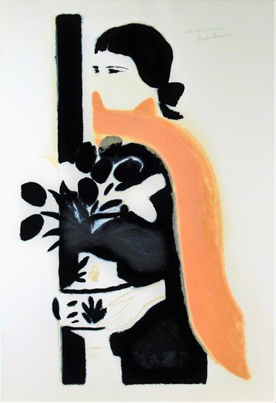 Andre Brasilier, 'Femme au Vase de Fleurs', ca. 1965