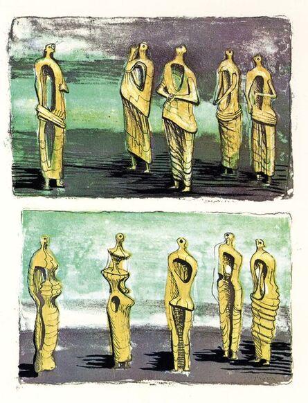 Henry Moore, 'Standing Figures', 1950
