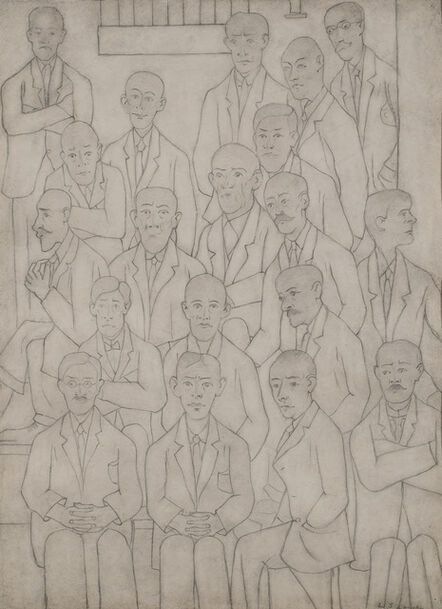 Laurence Stephen Lowry, 'Men at a Meeting'
