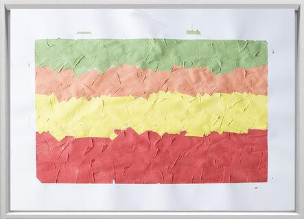 Rodrigo González Castellanos, 'Desgaste de la psicología del color, Alegría', 2020