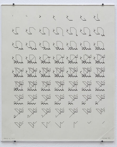 Manfred Mohr, 'P-026-A', 1970