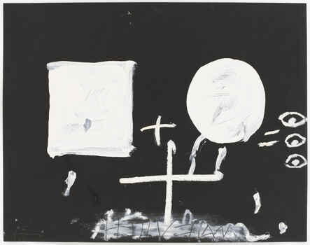 Antoni Tàpies, 'Blanc sobre negre II', 1999