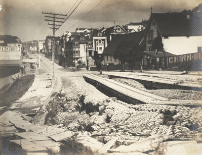 Willard Worden, 'Earthquake Damage to Union Street', 1906