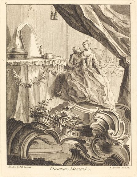 Antoine Aveline, 'l'Heureux Moment', 1736
