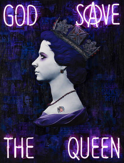 Illuminati Neon, 'God Save the Queen (Violet)', 2021