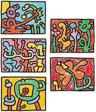 Keith Haring, 'Flowers (L. pp. 165-167)', 1990