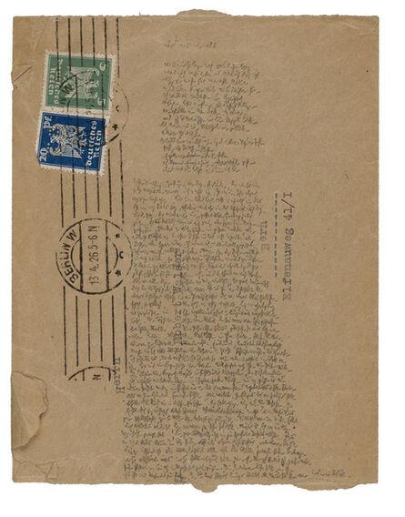 Robert Walser, 'Microscript 131, April', 1926