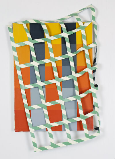 """Timothy Harding, '28"""" x 20"""" with Dropped Grid', 2016"""
