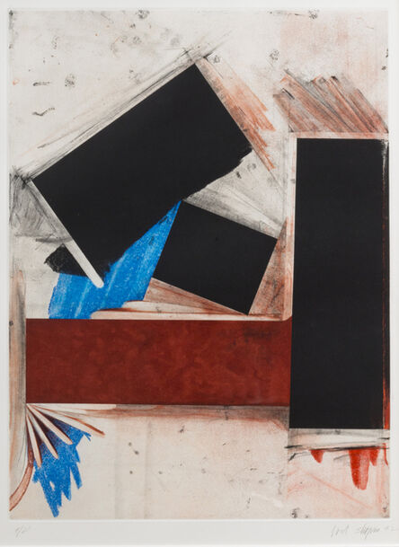 Joel Shapiro, 'Untitled (Red Square/with blue)', 1992