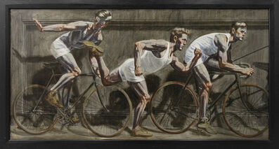 Mark Beard, '[Bruce Sargeant (1898-1938)] Frieze with One Runner Flanked by Two Bicyclists', n.d.