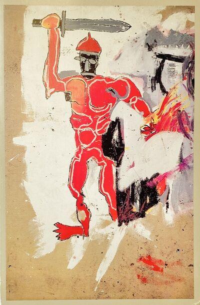 Jean-Michel Basquiat, 'Basquiat at Vrej Baghoomian gallery 1989 (Basquiat Red Warrior announcement) ', 1989