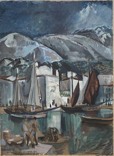 Henry De Waroquier, 'Port de Maleesine (Malcesine, Lake Garda, Italy)', Circa 1925
