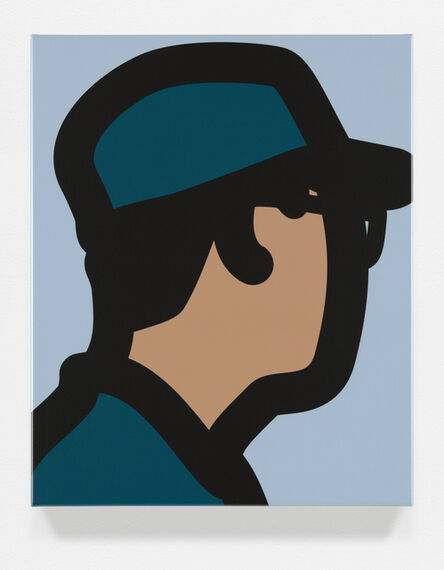 Julian Opie, 'Man with army cap', 2015