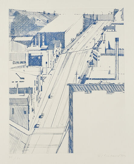 Wayne Thiebaud, 'Down 18th, from: Recent Etchings I', 1979