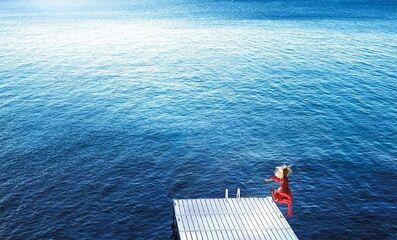 David Drebin, 'David Drebin, Jumping into the blue', 2016