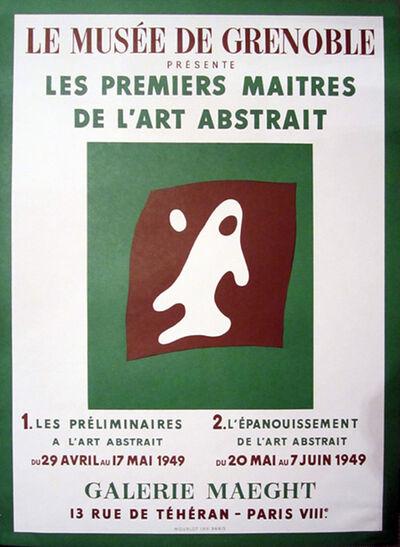 Hans Arp, 'Le Musee de Grenoble, Galerie Maeght Original Poster by Hans Arp', 1949