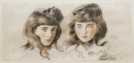 Paul César Helleu, 'Double Portrait of the Artist's Daughter Ellen.', ca. 1902-1903