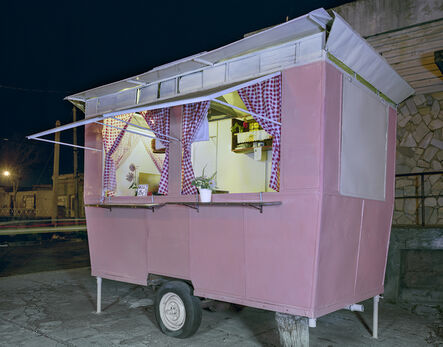Jim Dow, 'Pink Carrito with Curtains on the Rambla, Mercedes, Department of Soriano, Uruguay', 2010