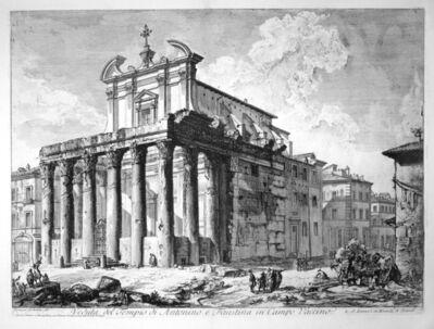 Giovanni Battista Piranesi, 'Veduta del Tempio di Antonio e Faustina', 1758