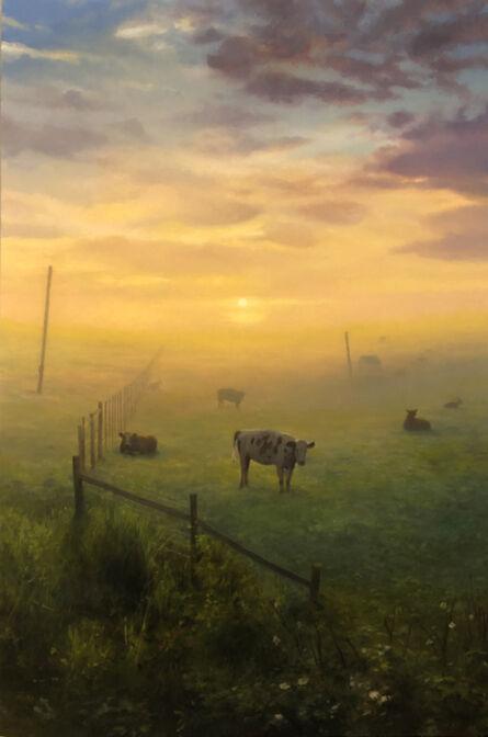 Scott Prior, 'Cows at Sunset, Petaluma, CA', 2019