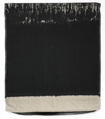 Analía Saban, 'Pressed Paint (Mars Black)', 2017