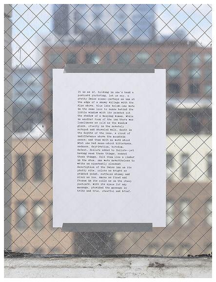 Alejandro Cesarco, 'Portrait of Robert Walser', 2015