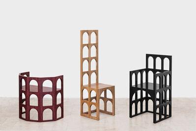 Paolo Canevari, 'Roma, Pisa and Venezia chairs', 2016