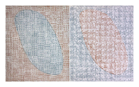 McArthur Binion, 'Potato Field', 2017