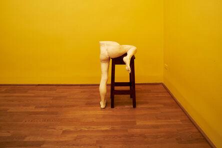 Sarah Lucas, 'Me Bar Stool (Installation view)', 2015