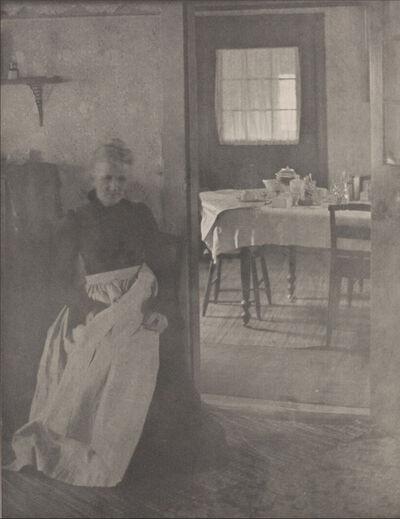 "Clarence H. White, 'Illustration to ""Eben Holden""', 1903"
