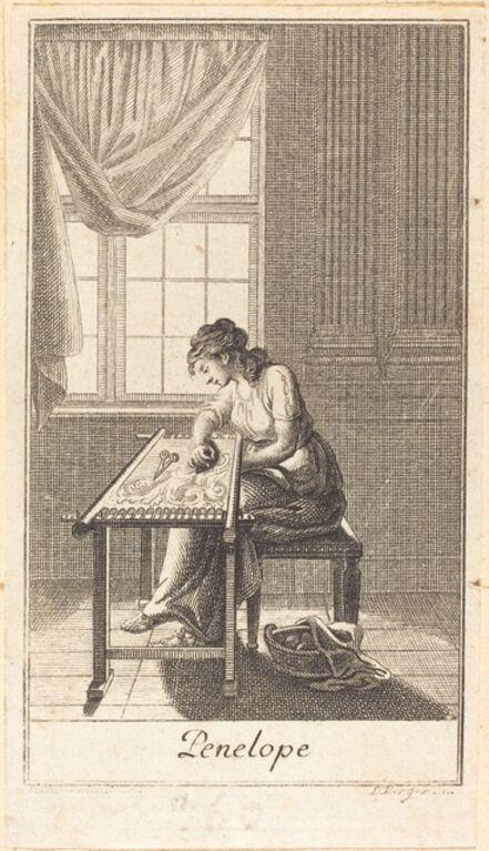 Daniel Berger after Daniel Nikolaus Chodowiecki, 'Penelope', 1780