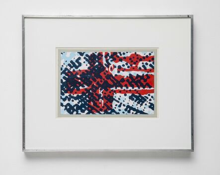 Tom Phillips, 'Conjectured Flag Study 5', 1974