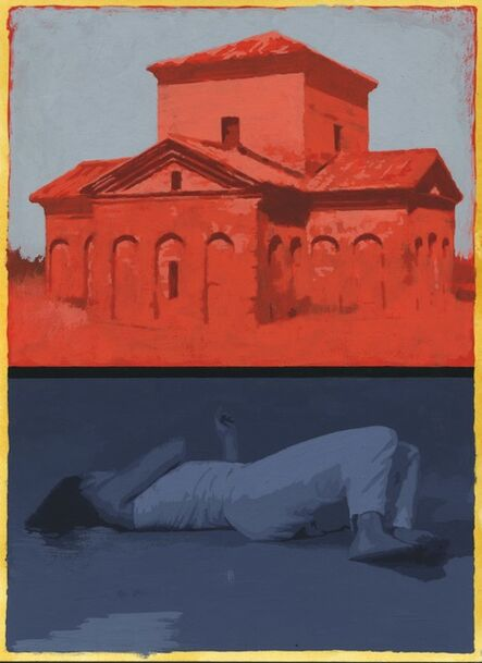 Sean Cain, 'Reclining Figure with Mausoleum of Galla Placidia', 2017