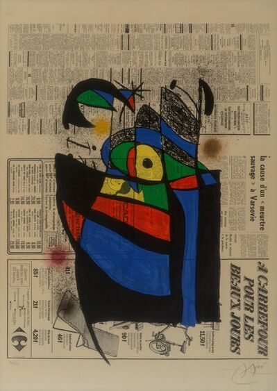 Joan Miró, 'Le journal', 1972