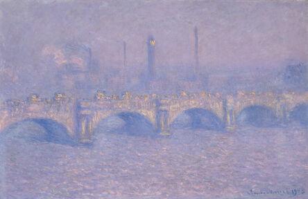 Claude Monet, 'Waterloo Bridge, Blurred sun', 1903