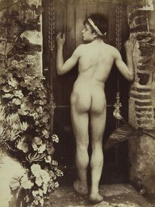 Wilhelm Von Gloeden, '[Nude Sicilian Young Man from the Rear]', ca. 1910