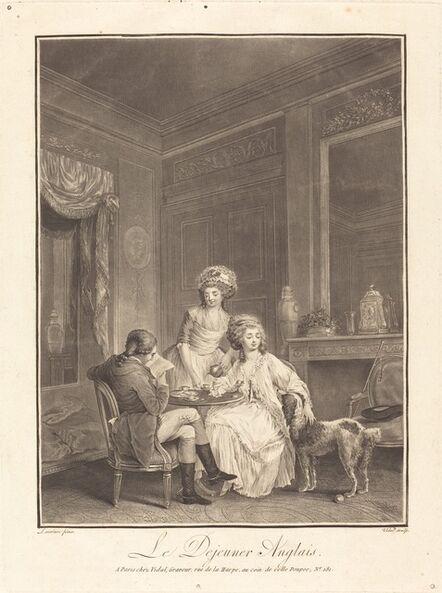 Geraud Vidal after Nicolas Lavreince, 'Le dejeuner anglais'