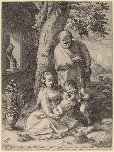 Hendrik Goltzius, 'The Holy Family', 1593