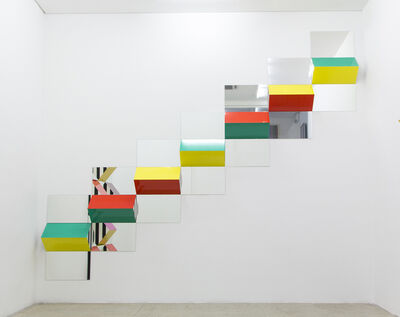 Daniel Buren, 'Prisms and Mirrors, high relief - n°XII', 2016