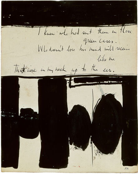Robert Motherwell, 'Elegy to the Spanish Republic No. 1', 1948