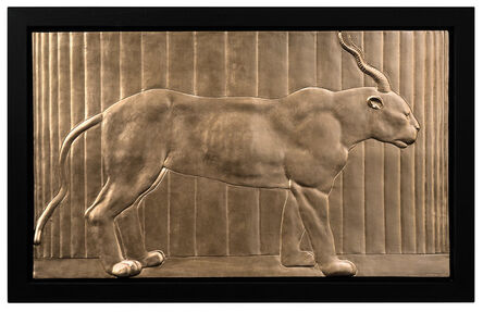 Mauro Corda, 'GOLDEN BAS-RELIEF OF PANTHER-GAZELLE', 2016