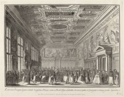 Giovanni Battista Brustolon after Canaletto, 'Reception by the Doge of Foreign Ambassadors in the Sala del Collegio', 1763/1766